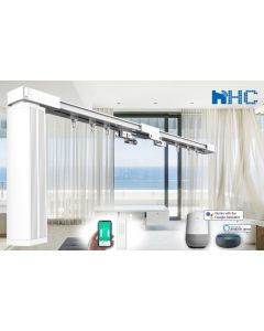 HC-SMART-HOME 8-meter-long DIY Smart Curtain Tracks - Works with Amazon Alexa and Google Home IFTTT