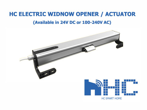 HC electric window opener, motorized window actuator