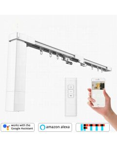 Remote Control DIY Smart Electric Curtain Tracks, built-in integration with Amazon Alexa and Google Home, IFTTT